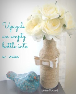 Make an upcycled vase from an empty bottle
