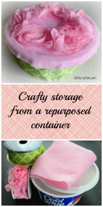 Crafty storage from a repurposed container