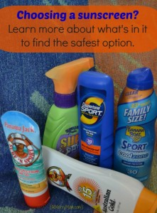 Choosing a sunscreen - learn about harmful ingredients - amerrymom.com