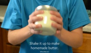 Making homemade butter with kids - amerrymom.com