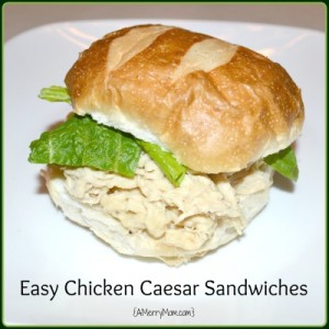 Easy Chicken Caesar sandwich