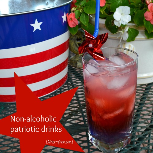 Red, White, and Blue patriotic non-alcoholic layered  drinks - amerrymom.com