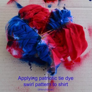 Patriotic Red White And Blue Tie Dye Shirts For