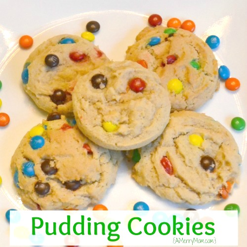 Pudding cookies - recipe at AMerryMom.com