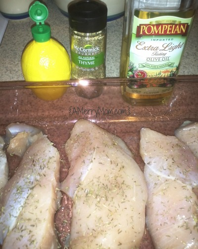 Simple lemon thyme chicken recipe ingredients - AMerryMom.com