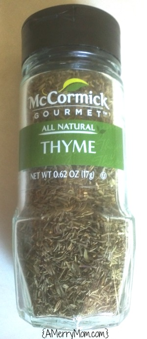 McCormick Gourmet Thyme - review on AMerryMom.com