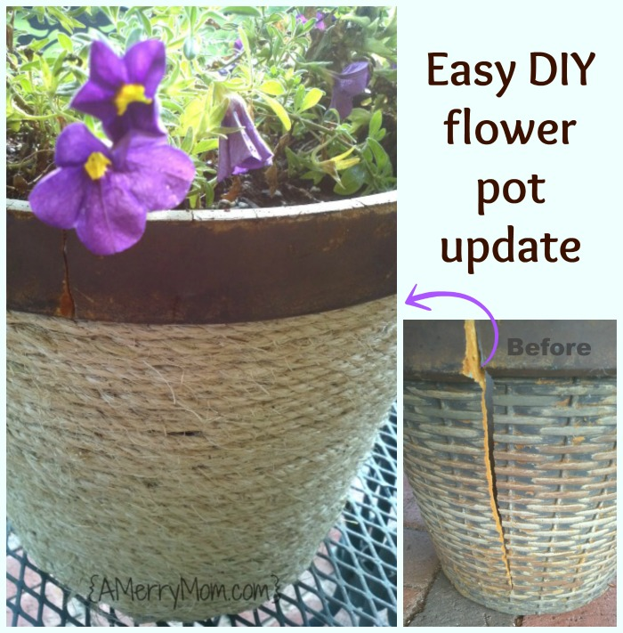 Easy DIY flower pot update - AMerryMom.com