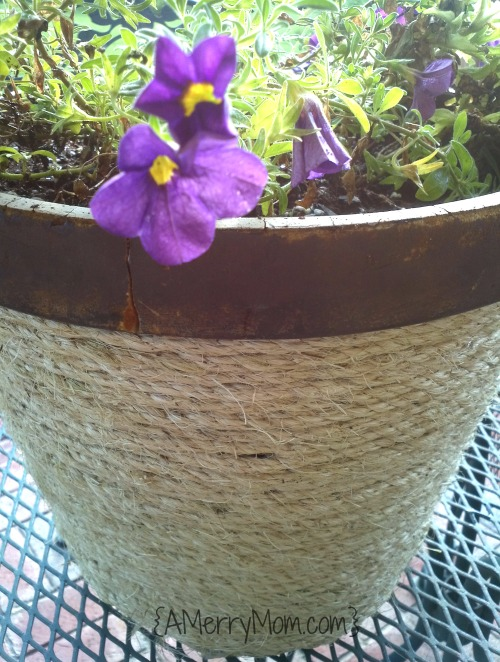 flower pot update completed - AMerryMom.com
