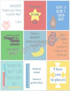 Free lunchbox printables