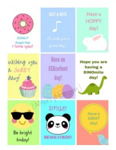 Free lunchbox printables for spring {PDF from AMerryMom.com}