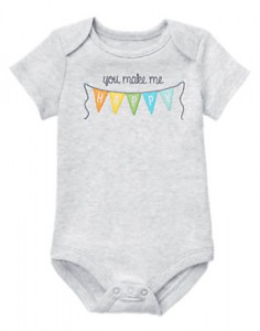 Gymboree happy bodysuit