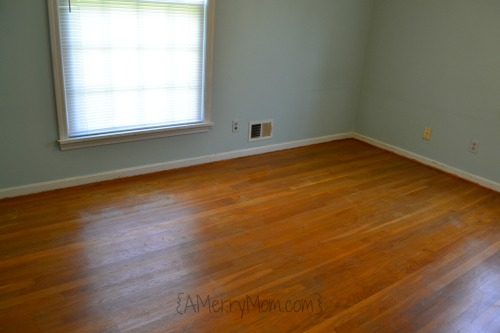 Hardwood floor after carpet