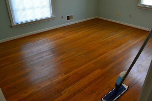 Hardwood floor cleaned