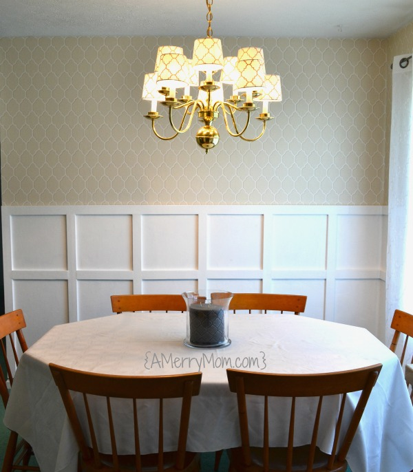Board and batten dining room makeover after