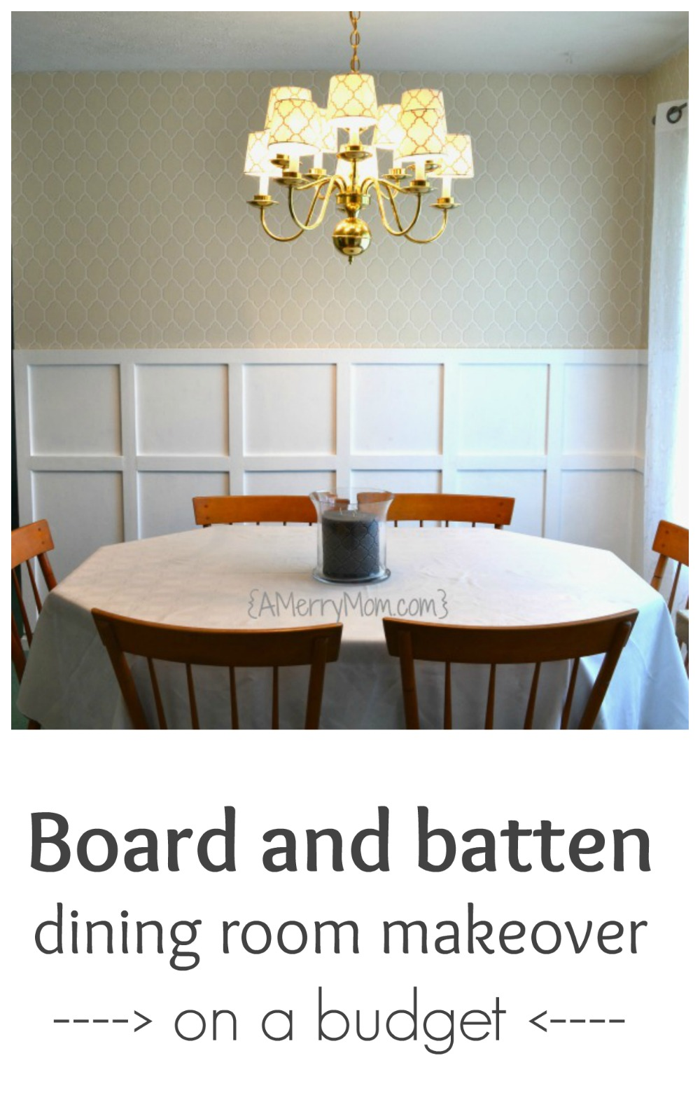 board and batten dining room makeover on a budget