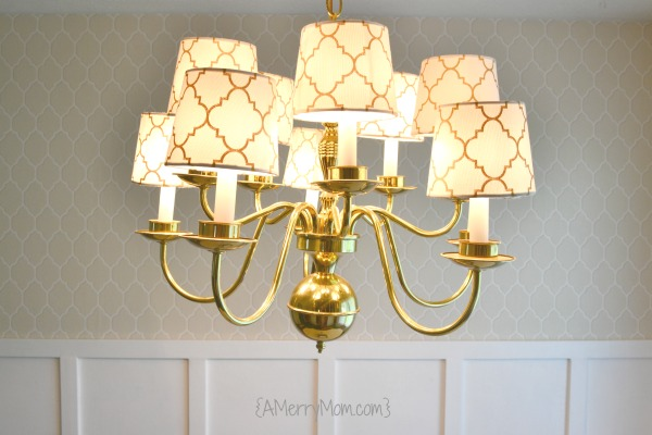 board and batten chandelier