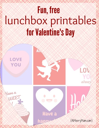 lunchbox printables for Valentine's Day